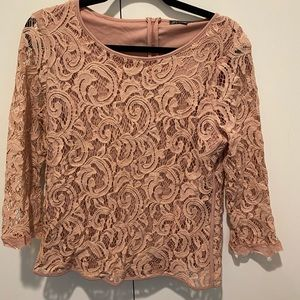 Adrianna Papell Pink Blouse Size Large